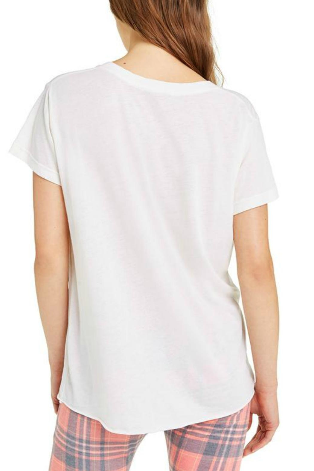 Wildfox It-Buys-Happiness V-Neck Tee - Back Cropped Image