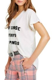 Wildfox It-Buys-Happiness V-Neck Tee - Side cropped