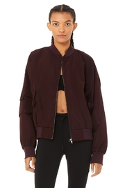Alo Yoga  It Girl Bomber - Front cropped