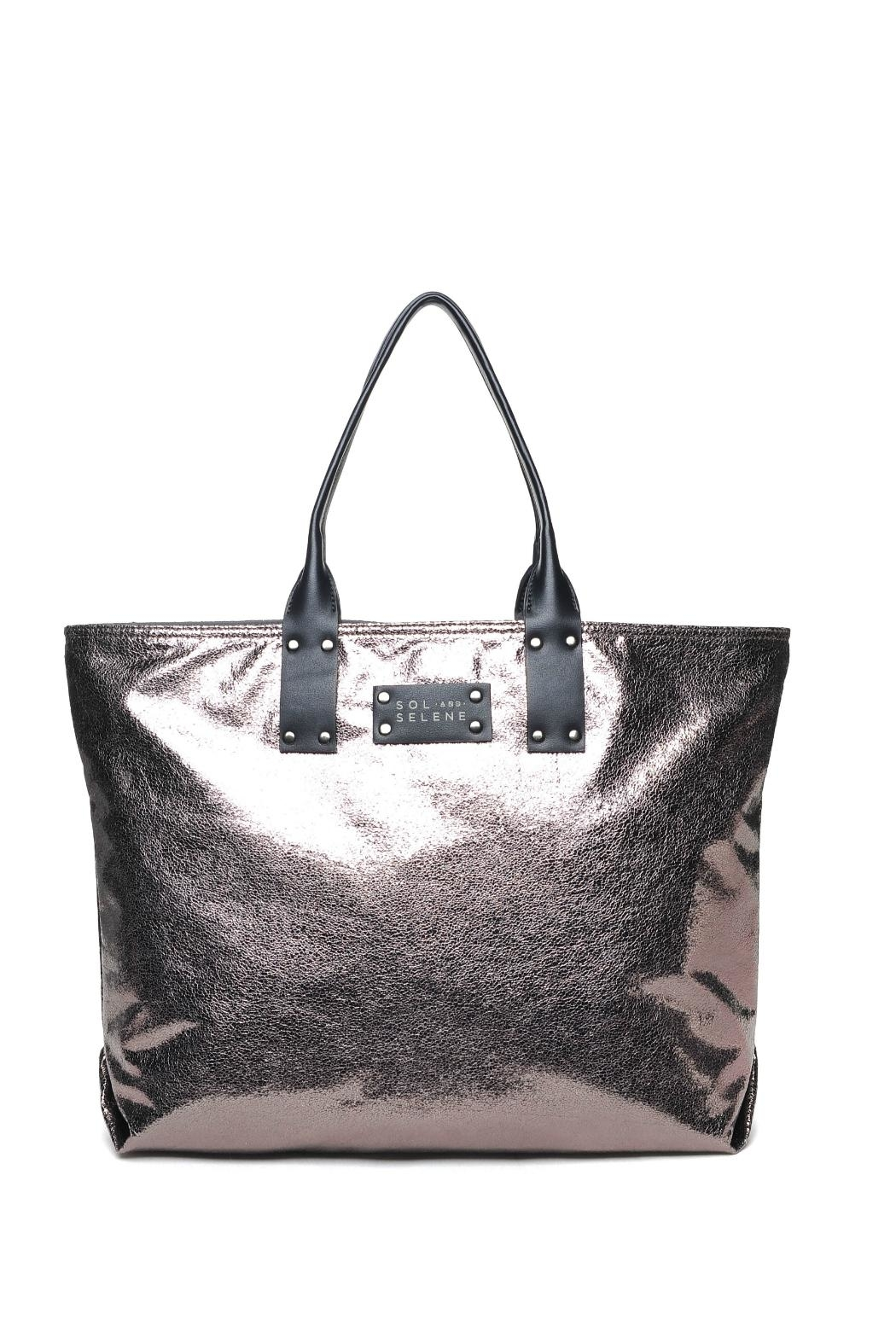 Sol and Selene It Girl Reversible Tote w Inner Pouch - Front Cropped Image