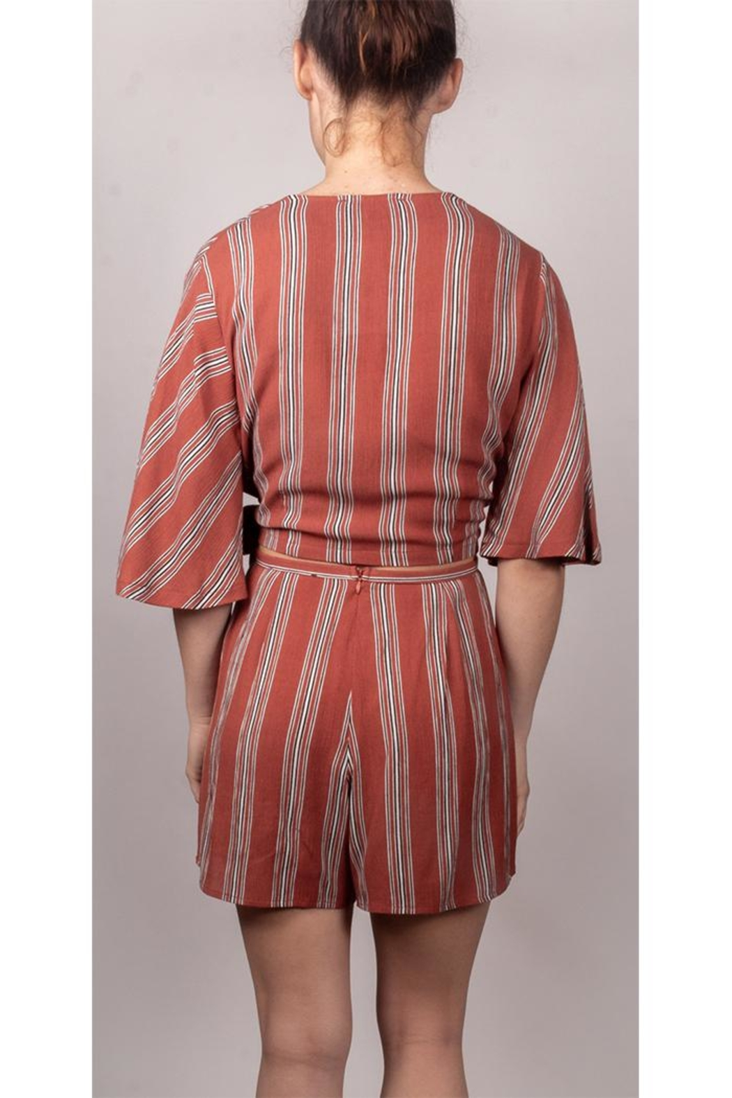 AAKAA It-Girl Striped Set - Back Cropped Image