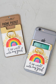 Natural Life It Is Well With My Soul Phone Pocket Ring - Alternate List Image