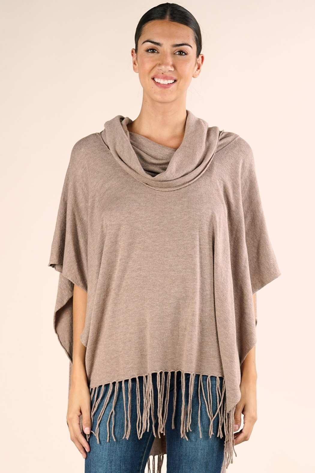 Lovestitch IT'S ALL THAT PONCHO - Front Cropped Image