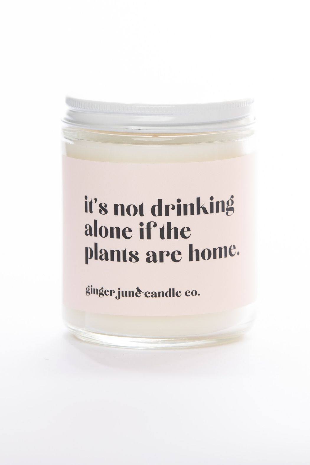 Ginger June Candle Co. It's Not Drinking Alone If The Plants Are Home Candle - Main Image