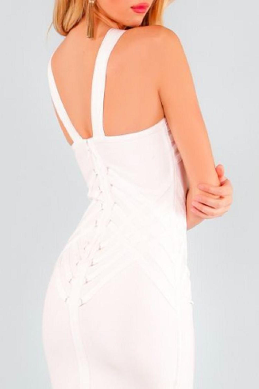1e6c88bedfb8f1 Wow Couture It's-Party-Time White Bandage-Dress from Massachusetts ...