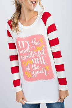 12pm by Mon Ami It's The Most Wonderful Time of the Year LS Tee - Product List Image