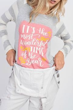 12pm by Mon Ami It's The Most Wonderful Time of the Year LS Tee - Alternate List Image