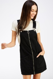 it's me Black Denim Overalls - Front cropped