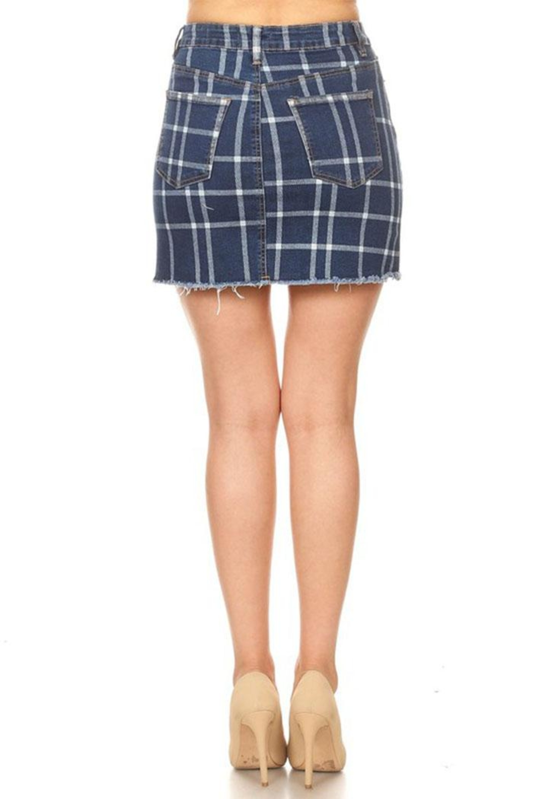 it's me Check Mini Skirt - Side Cropped Image