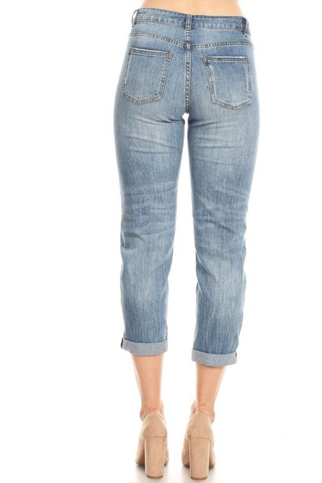 it's me High-Rise Boyfriend Jeans - Side Cropped Image