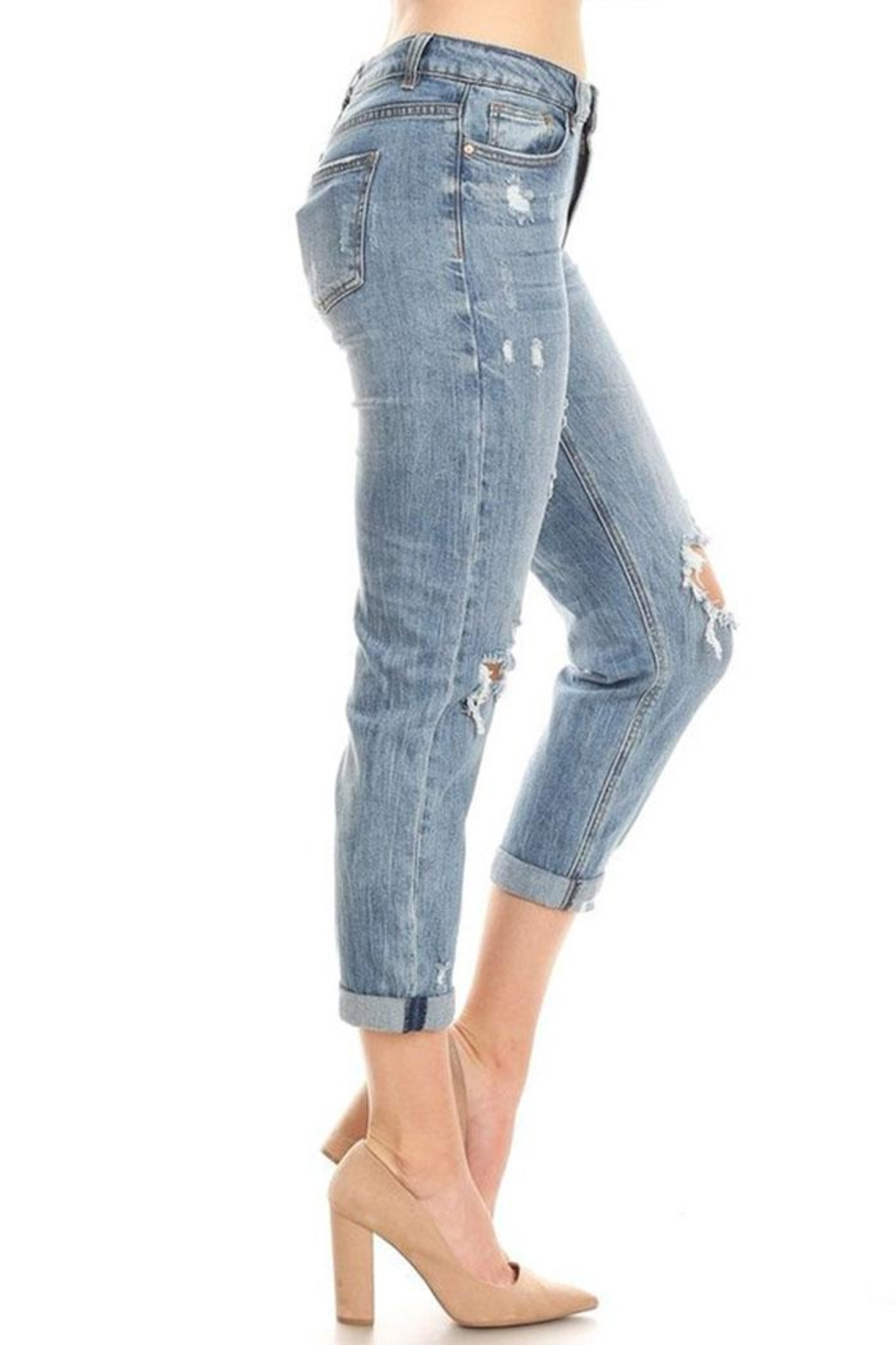 it's me High-Rise Boyfriend Jeans - Back Cropped Image