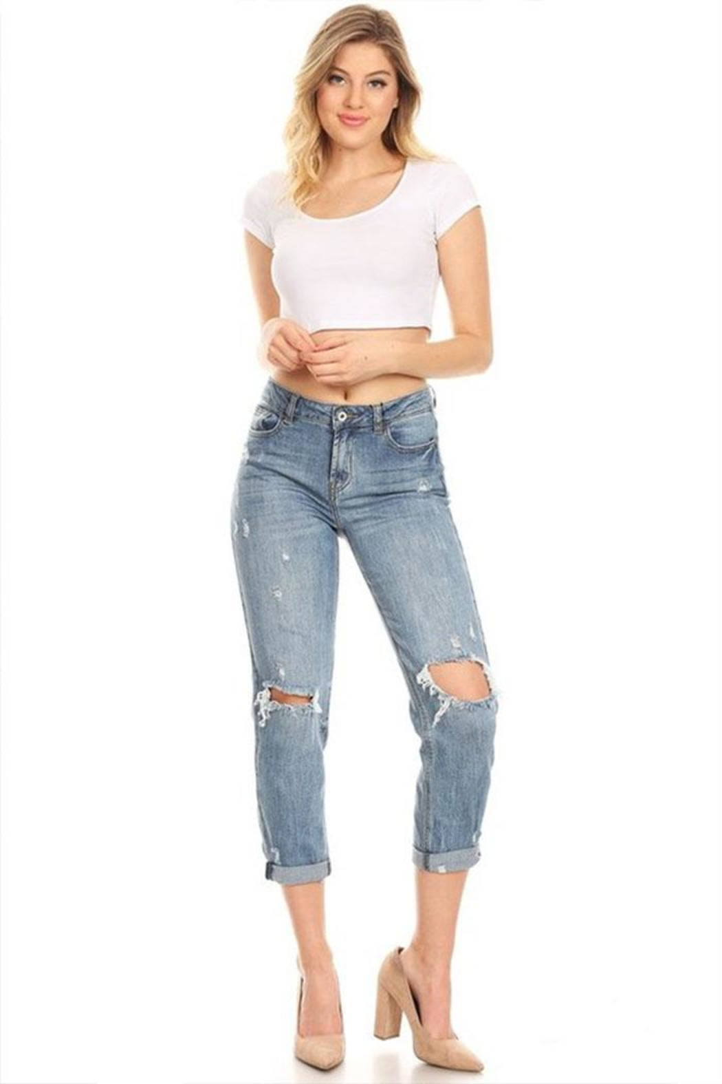 it's me High-Rise Boyfriend Jeans - Front Full Image