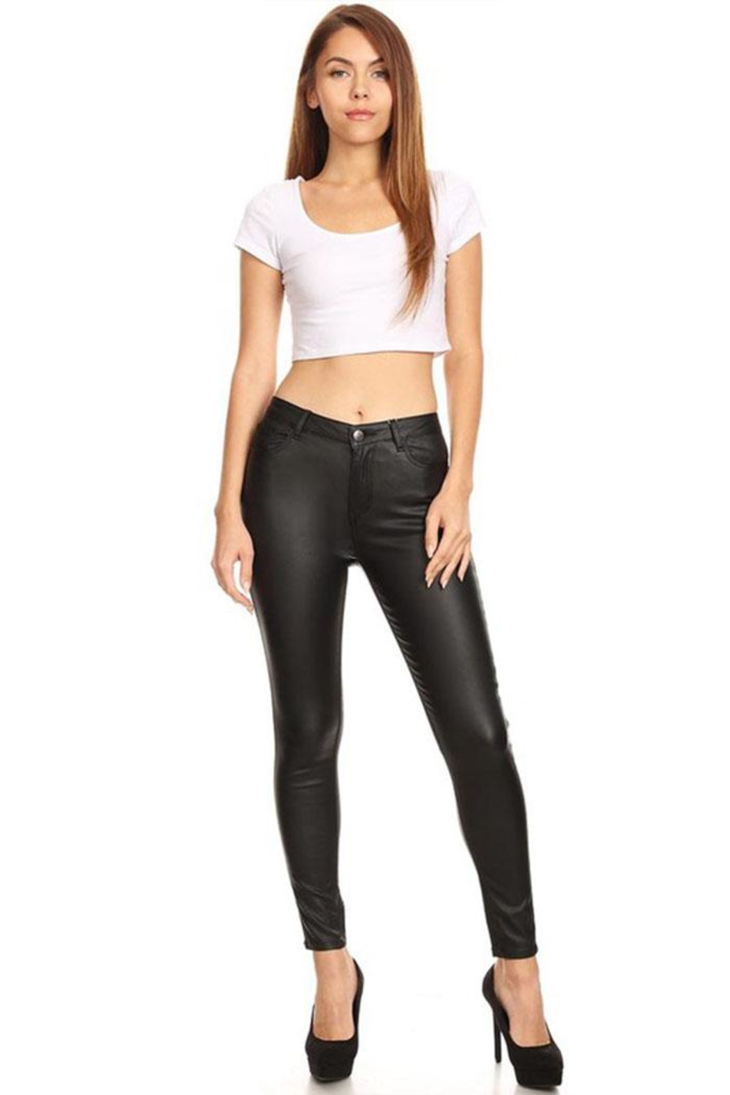 it's me Wax Coated Jeans - Back Cropped Image