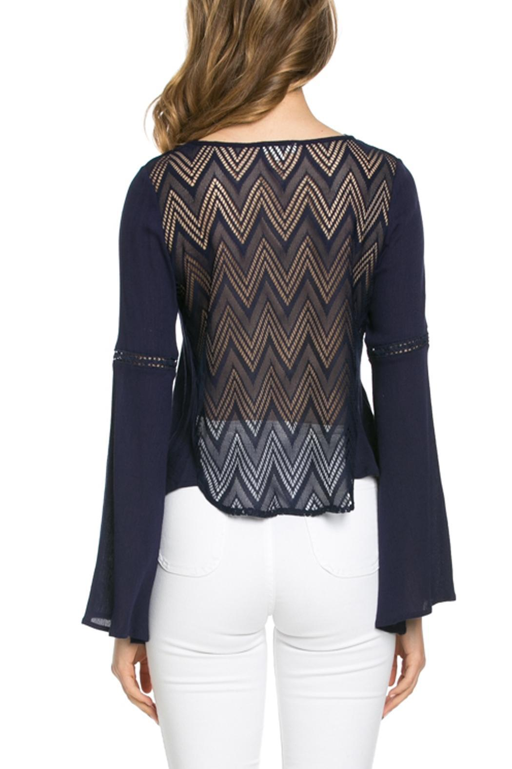 It Girl Bell Sleeve Top - Back Cropped Image