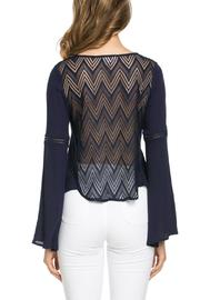 It Girl Bell Sleeve Top - Back cropped