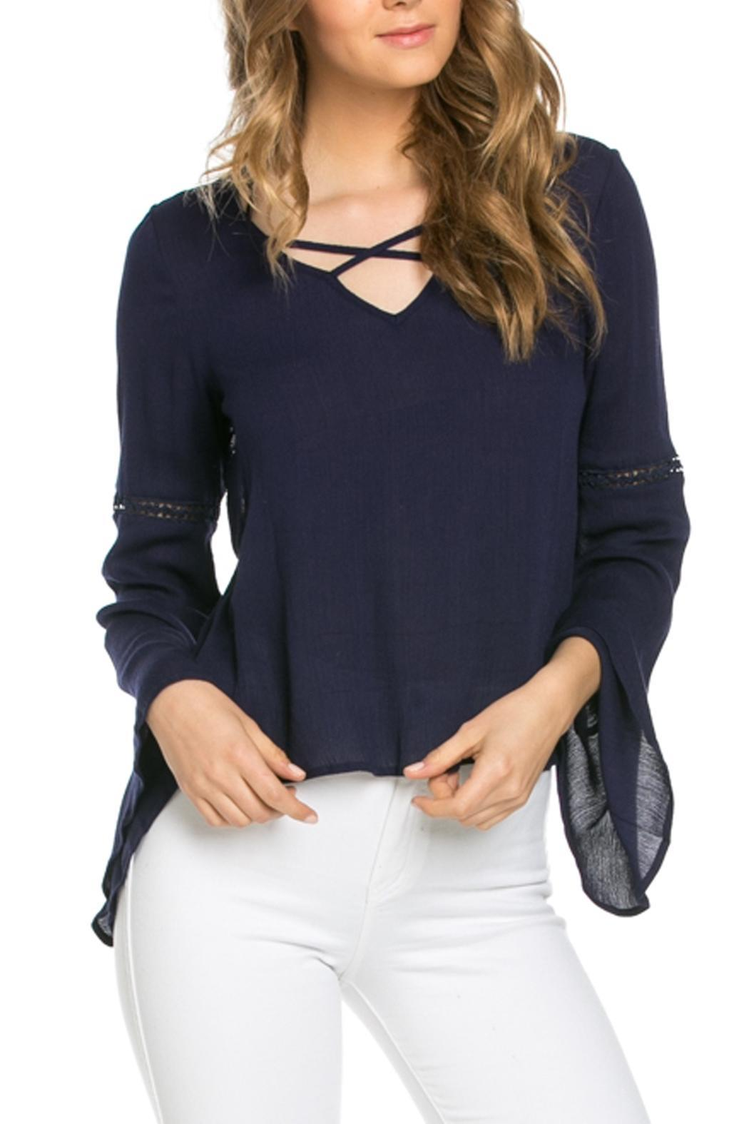 It Girl Bell Sleeve Top - Front Cropped Image