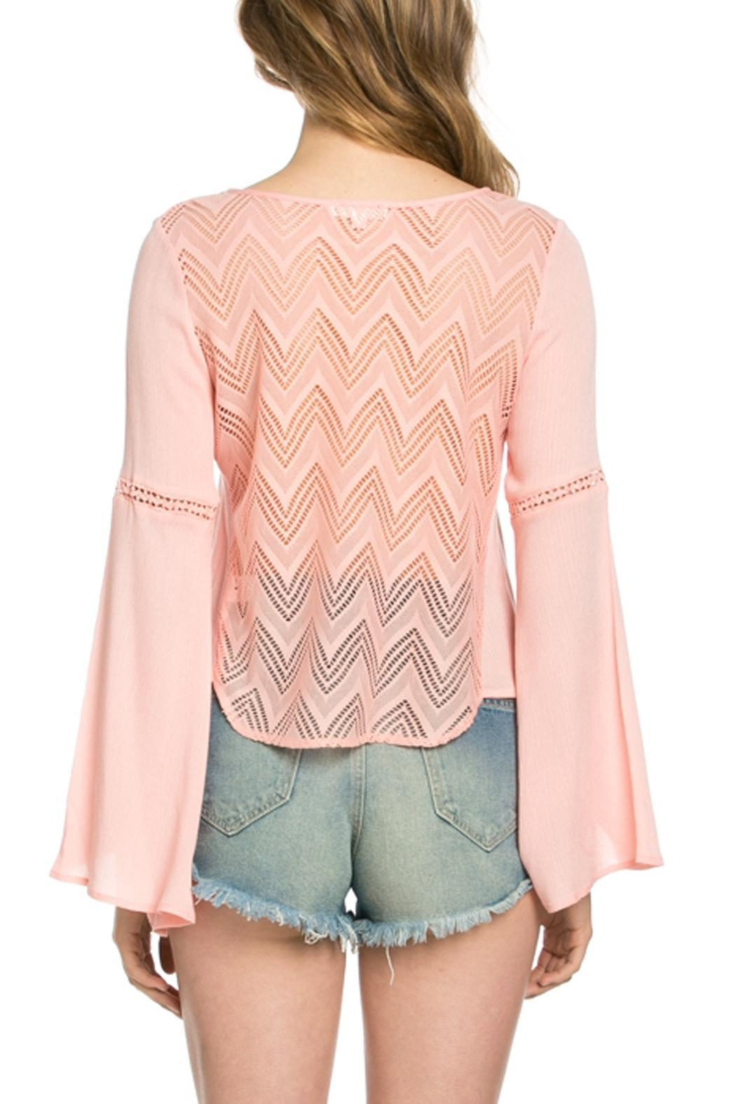 It Girl Bell Sleeve Top - Side Cropped Image
