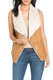 It Girl Suede Fur Vest - Front cropped