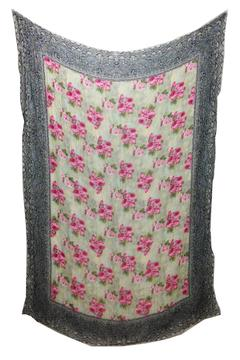 Shoptiques Product: Crinkle Floral Scarf