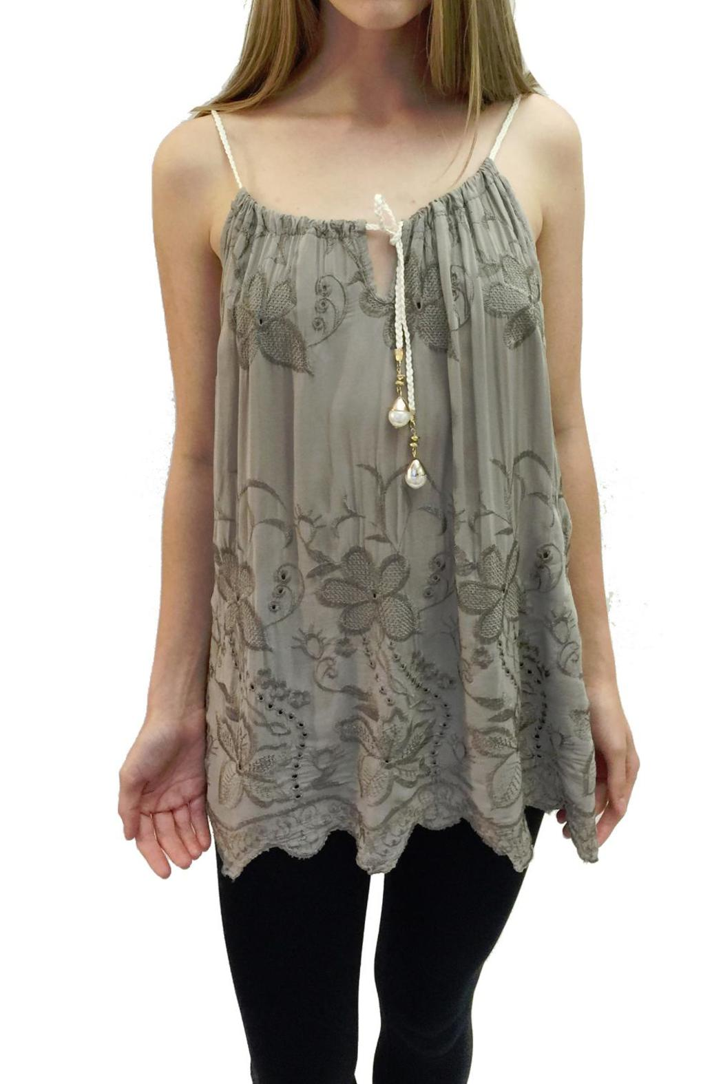 Italian Collection Olive Braid-Strap Top - Main Image