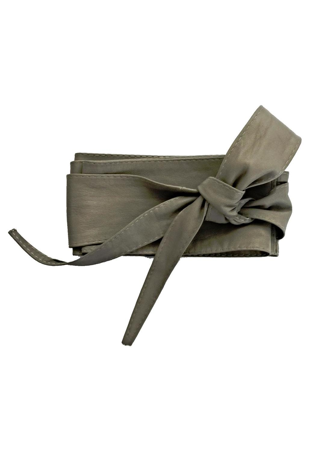 Italian Collection Taupe Wrap Belt - Main Image
