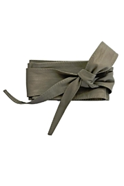 Italian Collection Taupe Wrap Belt - Product Mini Image
