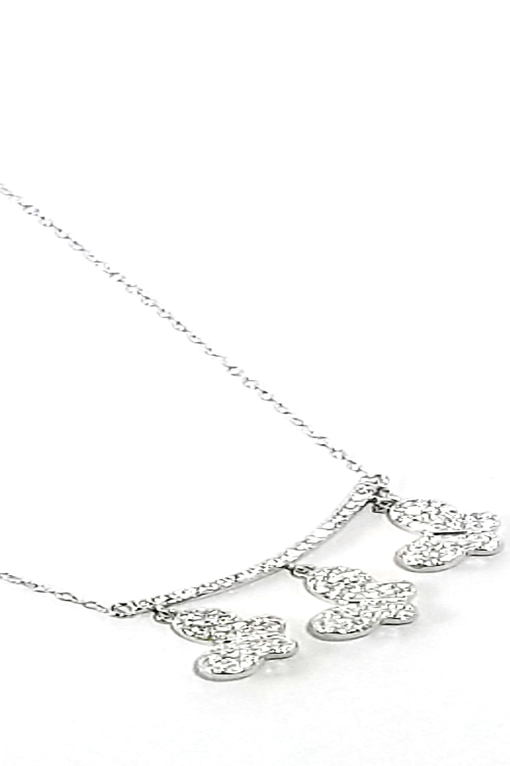 Italian Ice Three Butterfly Necklace - Front Full Image