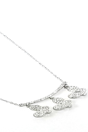 Italian Ice Three Butterfly Necklace - Front full body