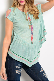 ITRO Tribal Mint Top - Side cropped