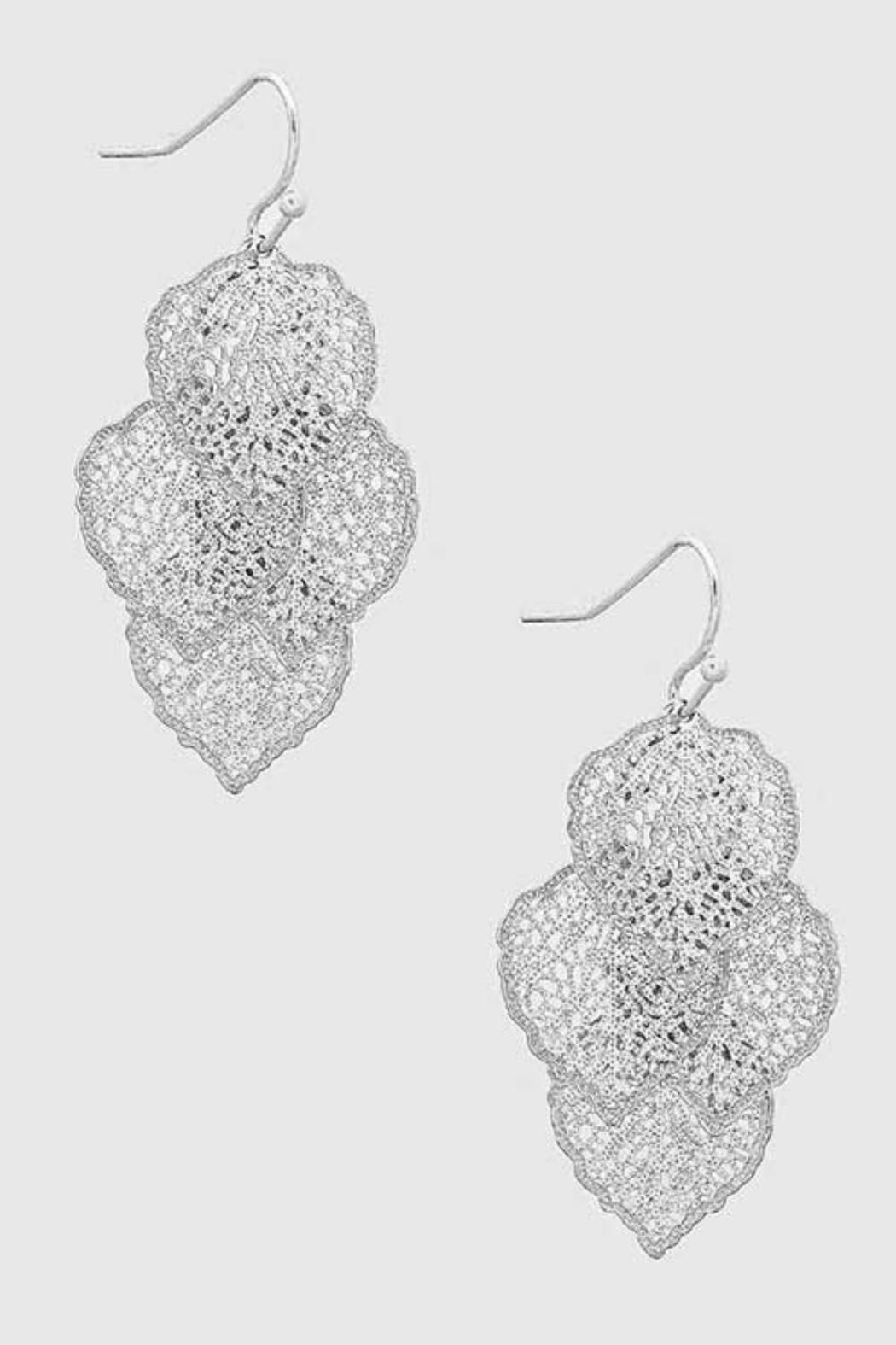 Its Sense 4 Leaf Earrings - Front Cropped Image