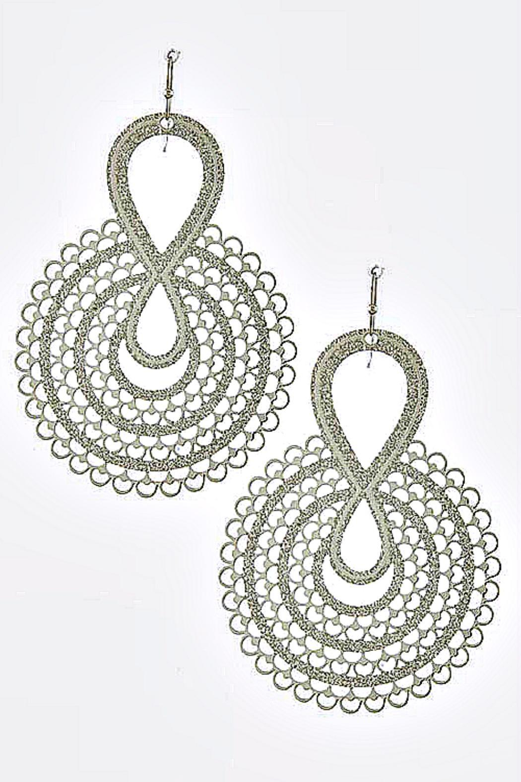 Its Sense Elaborate Designed Earrings - Front Cropped Image