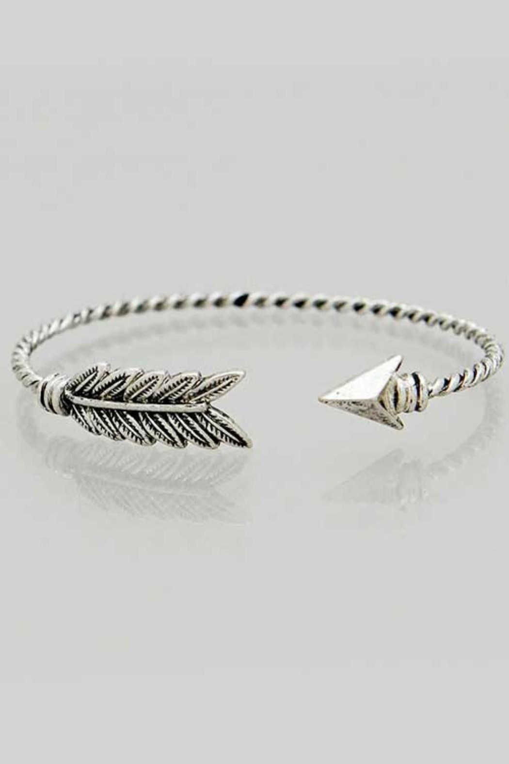 Its Sense Feather Cuff Bracelet Front Cropped Image
