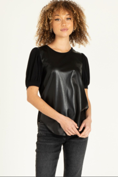 another love  Itzel Pleather Top - Alternate List Image