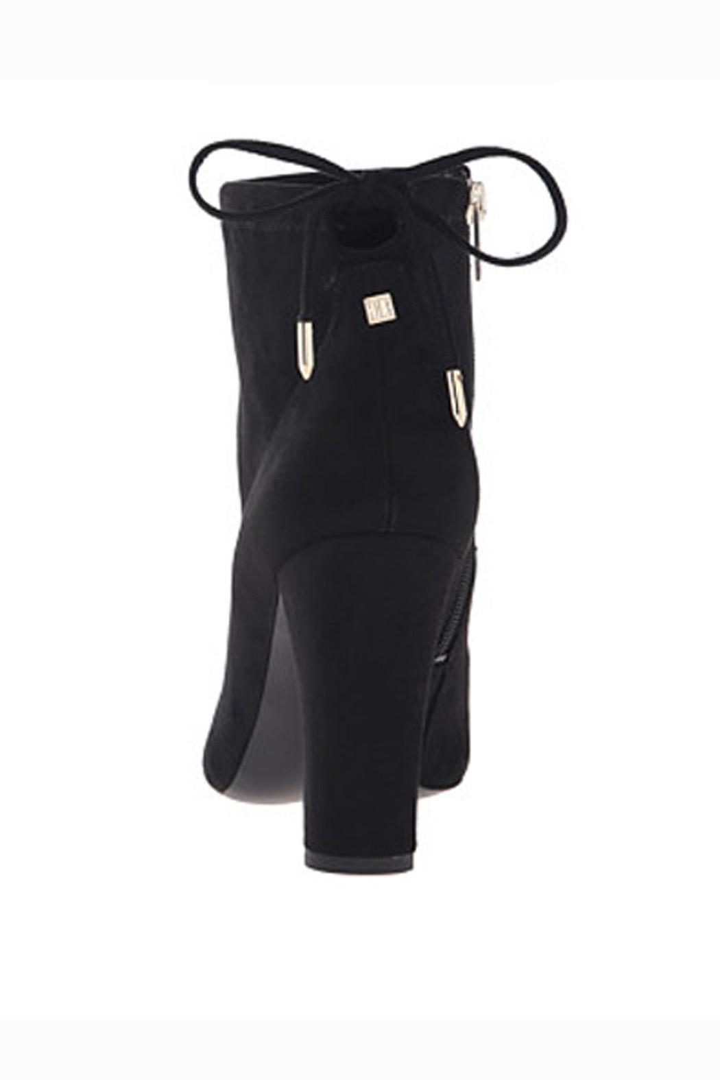 IVANKA TRUMP Black Suede Booties - Side Cropped Image