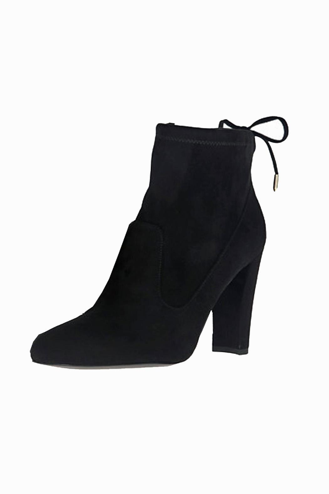 IVANKA TRUMP Black Suede Booties - Main Image