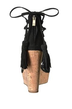 IVANKA TRUMP Black Tassel Wedge - Alternate List Image