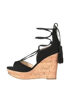 IVANKA TRUMP Black Tassel Wedge - Product List Image