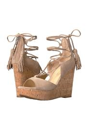 IVANKA TRUMP Tan Tassel Wedge - Front cropped
