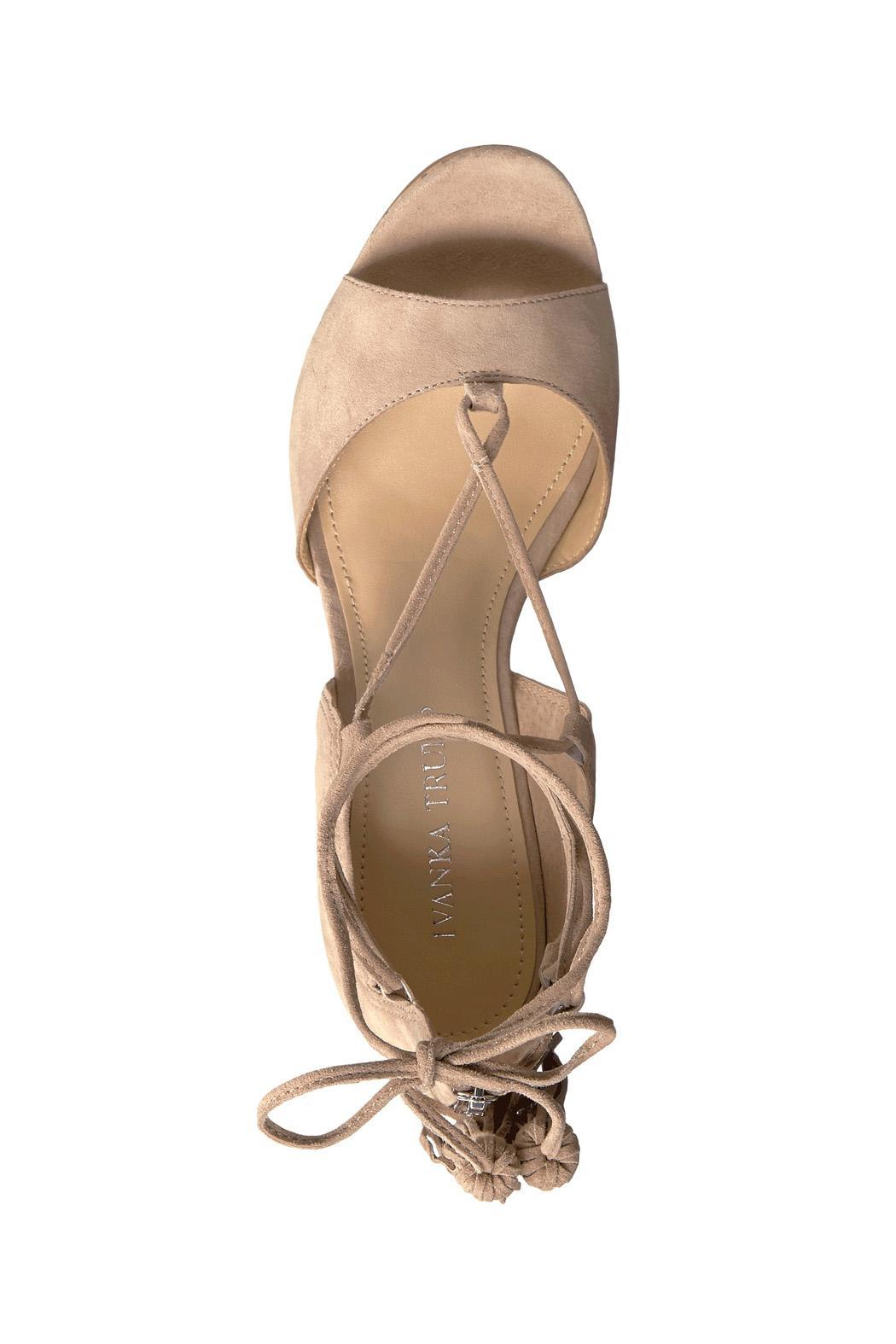 IVANKA TRUMP Tan Tassel Wedge - Side Cropped Image