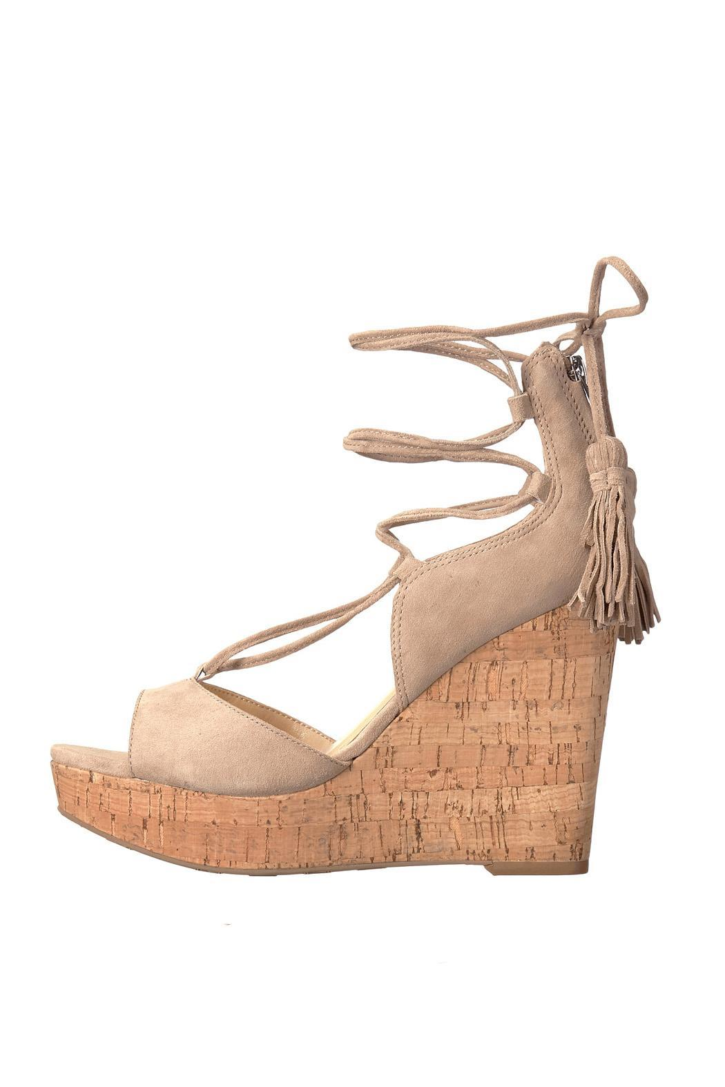 IVANKA TRUMP Tan Tassel Wedge - Main Image