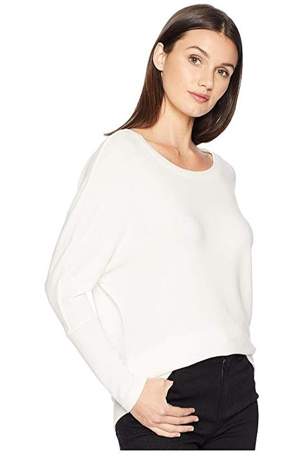Cupcakes and Cashmere Ivery Super Soft Dolman Pullover - Front Full Image