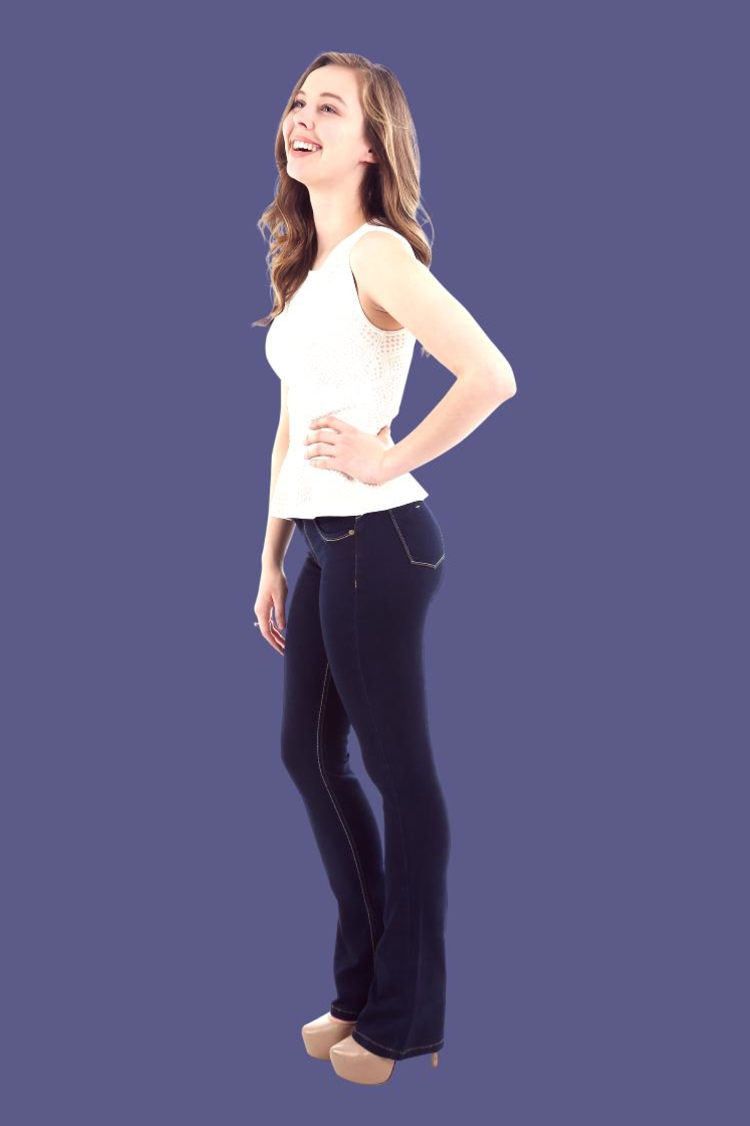 Ivido Push Up & Tummy Control Boot Cut - Side Cropped Image