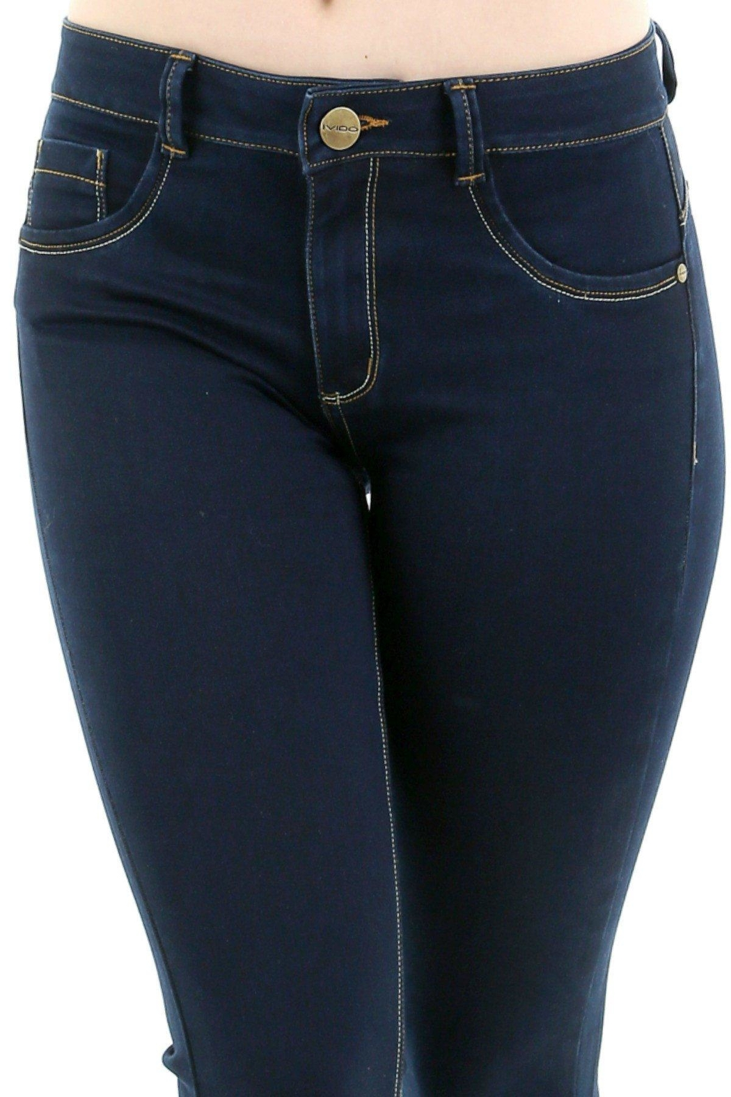 Ivido Push Up & Tummy Control Boot Cut - Back Cropped Image