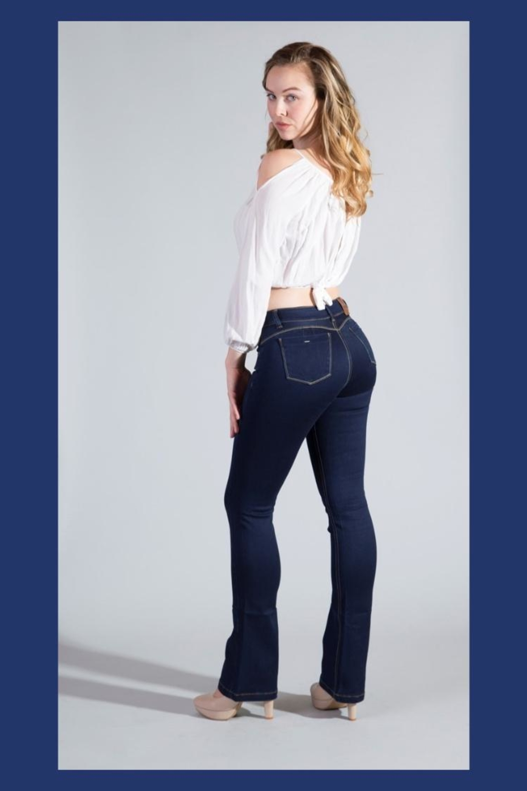 Ivido Push Up & Tummy Control Boot Cut - Front Cropped Image