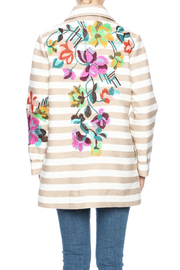 Ivko Floral Embroidery Jacket - Back cropped