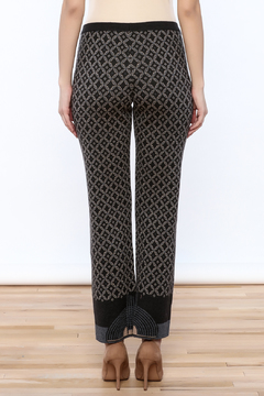 Ivko Anthracite Jacquard Print Pant - Alternate List Image