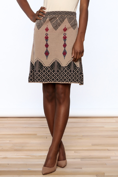 Shoptiques Product: Wool Jacquard Print Skirt