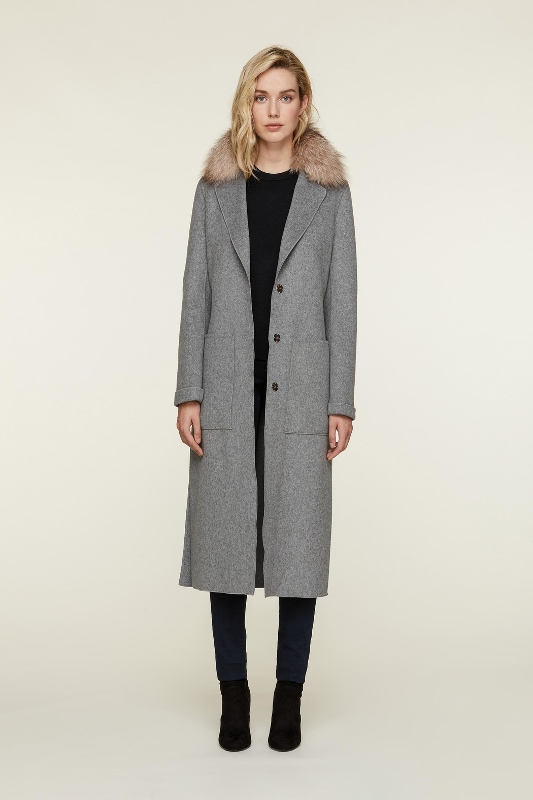 Soia & Kyo Ivonne-Fx Wool Coat - Front Cropped Image