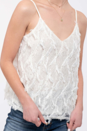 Mine and E&M Ivory 3D Textured Top - Product Mini Image