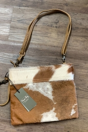 Myra Bag Ivory And Drab Hairon Pouch - Product Mini Image